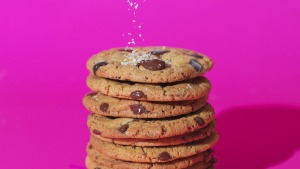 Have you ever sprinkled a pinch of flaky salt on a chocolate chip cookie just before baking? Try it. You won't regret it.