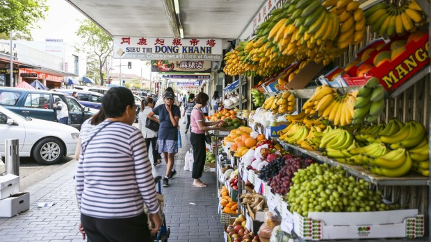 Local vietnamese grocers, fresh food markets and restarants along John Street and Dutton Lane in Cabramatta. Photograph by Katherine Griffiths