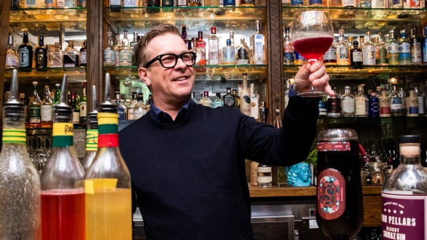 Mikey Enright says many customers enjoying their grape gins as they would a traditional English sloe gin.