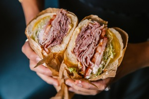 Worth your hard-earned cash: Ham, cheese, salad sub from Harvey's Hot Sandwiches, Parramatta.