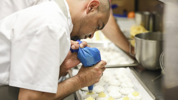 Chef Keith Munro working at NSW Parliament House for the Koori Kitchen Takeover.