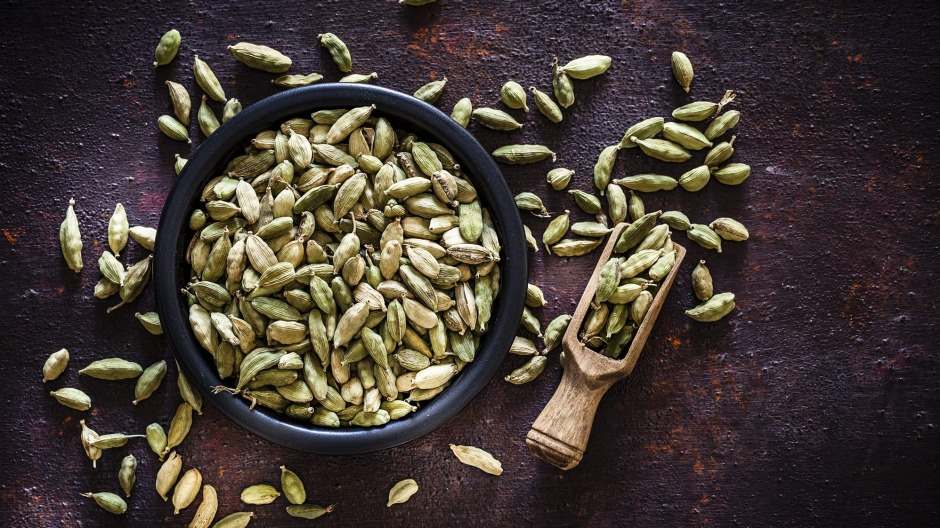 Green cardamom pods: a little goes a long way.