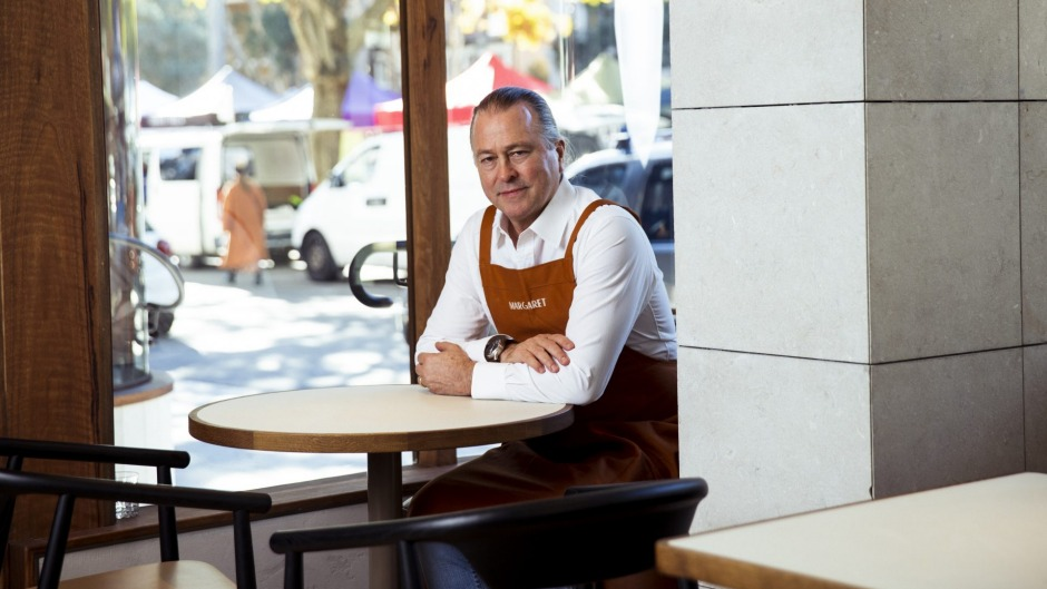 Neil Perry at his new restaurant Margaret in Double Bay.