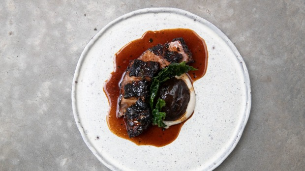 Kangaroo Valley's Target Creek beef short rib is gently cooked until soft and yet not too soft.