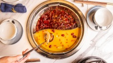Cook your own dinner: the spicy hotpot.