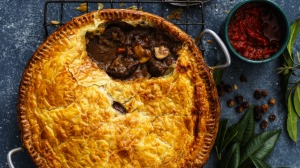 Seek out kangaroo rump for this peppery pie filling.