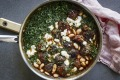 Meatball and white bean stew with creamy, melty feta.