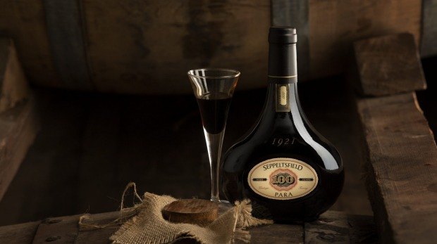 Seppeltsfield 100-Year-Old Tawny. For Katie Spain drinks trends story for Good Food, July 6, 2021