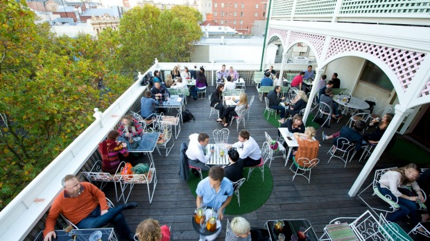 The rooftop bar at Madame Brussels.