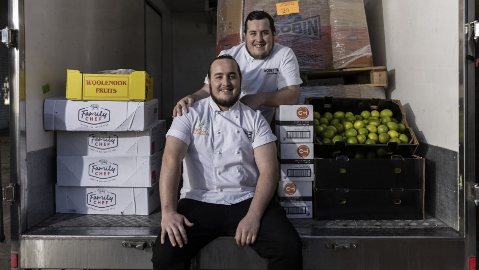 Sam (right) and Luke Bourke enrolled in the National Indigenous Culinary Institute (NICI), a training and employment ...