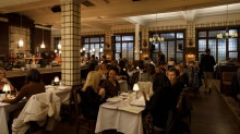 Patrons dine on wintry dishes at Bar Moubray at The Commons.