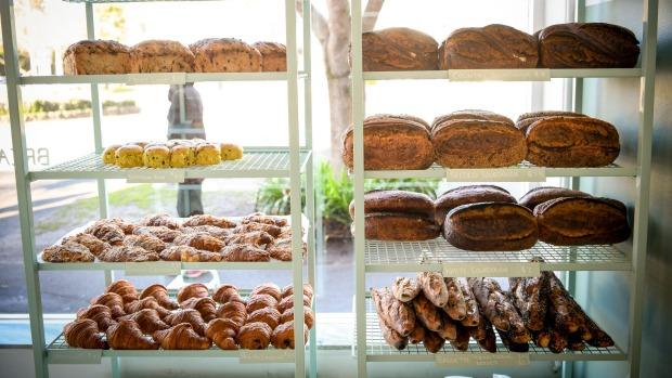 """""""It's not fine dining but ... you still feel gratified."""" Bread Club's pastry and sourdough selection."""