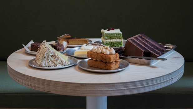 Assorted treats at Raya cake shop and cafe in Melbourne.