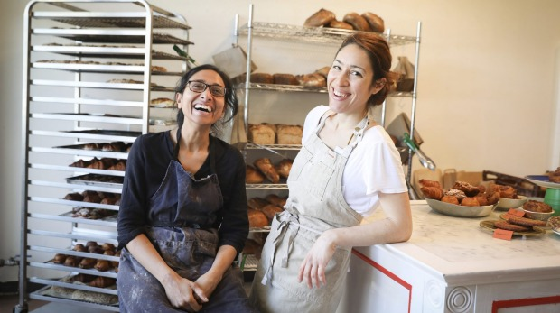 The Popular bakery Flour Shop in Turamurra where they bake a limited number of pastries and breads run by Anu Haran and Laura Gonzalez. 31/07/20 Photo: Renee Nowytarger / SMH