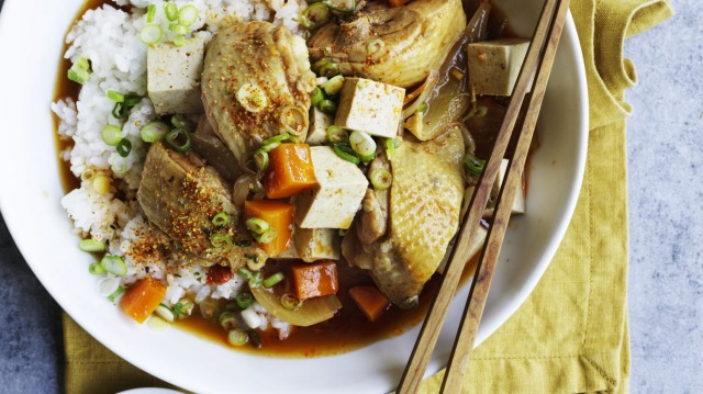 Neil Perry serves this Korean-style braise with short-grain sushi rice.