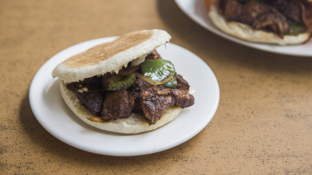 Terry Durack review at Xi'an Cuisine in Haymarket. Lamb in pita bread. 19th July 2021. Photo:Anna Kucera/GoodFood
