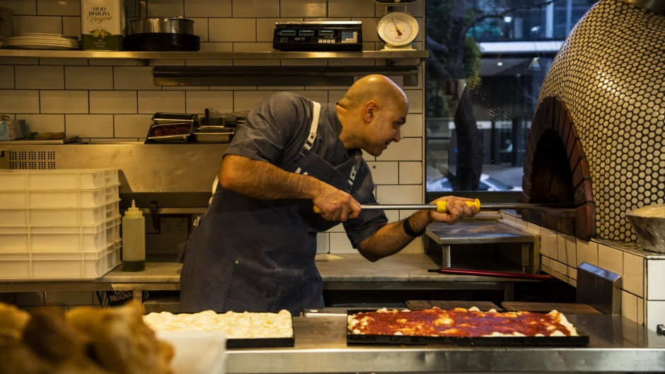 Marta owner and chef Flavio Carnevale has been baking in his kitchen from 2am almost every morning during lockdown.
