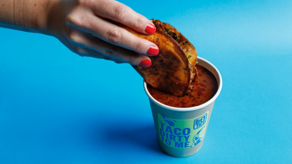 BuenTaco by QBF is serving upbirriatacos, which comewith their own dipping broth.