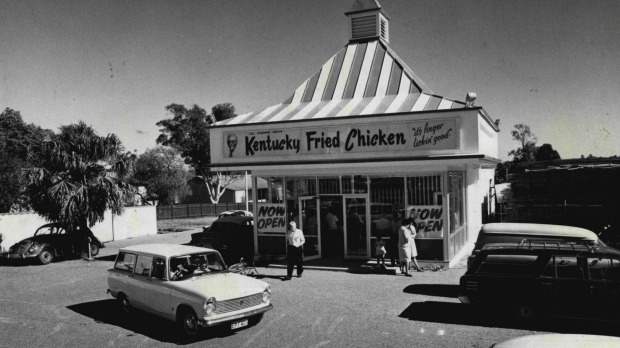 Australia's first Kentucky Fried Chicken store on Woodville Road, Guildford, during its opening week in 1968.