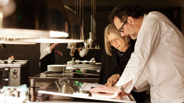 Martin Benn and Vicki Wild in the kitchen before the opening of the huge 80 Collins restaurant.