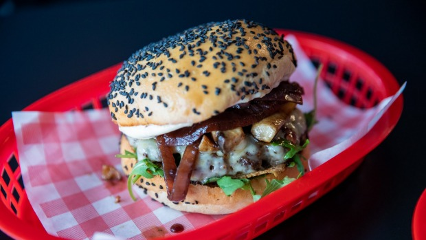 The Donald Truff burger with truffle mayonnaise.