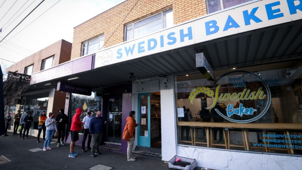 Inner West Swedish Baker's new shop on Barkly Street in West Footscray on Saturday morning.