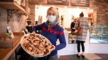 Geeti Persson, owner and head baker inside the new store in West Footscray
