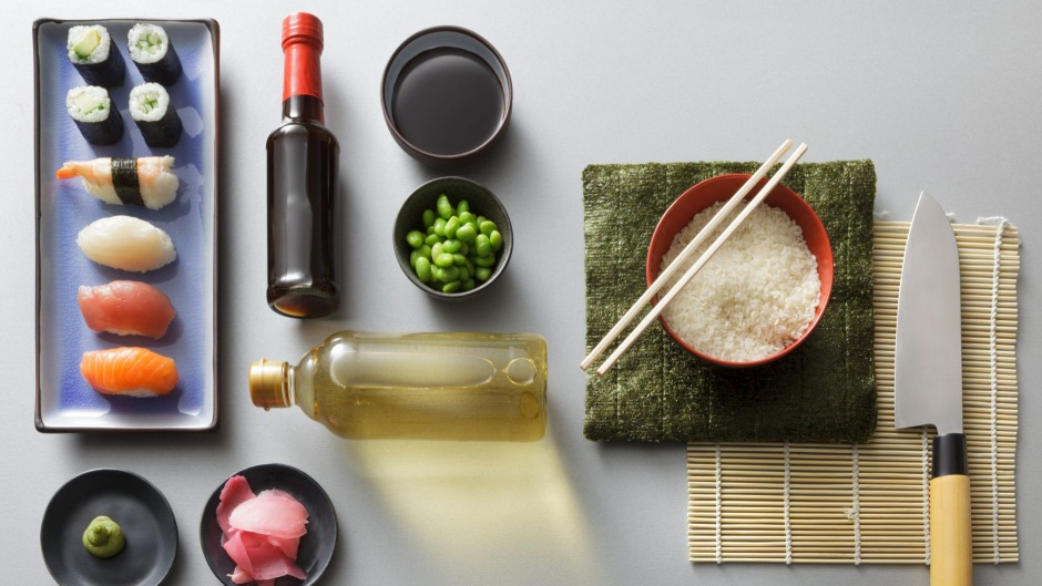 Short-grain rice, rice vinegar, soy sauce and sesame oil are Japanese pantry essentials for making sushi and beyond.