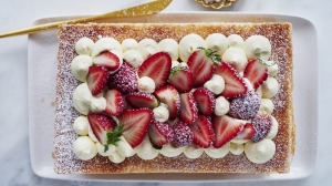 Strawberry mille feuille.