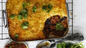 Greek meets Mexican: Moussaka with smoky chipotle.