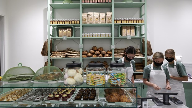 Bread, pastries, coffee beans and other ready-to-go items complement the huge range of prepared meals.