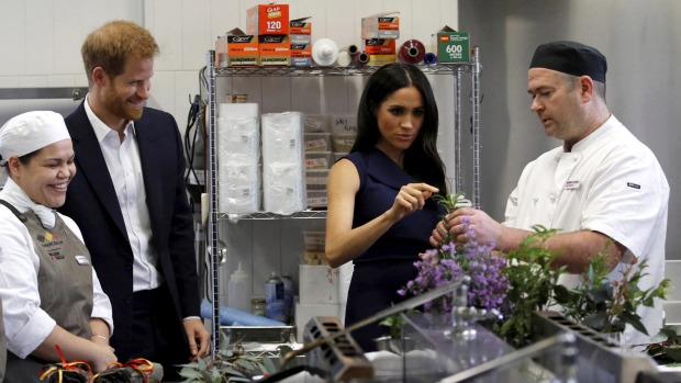 Prince Harry and Meghan Markle visited Charcoal Lane during their visit to Melbourne in 2018.