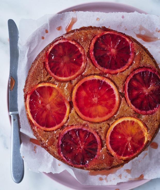 Bread-and-butter pudding  meets flourless orange cake.
