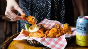 Wingboy chicken wing and tenders, made in the kitchen of Bondi Pizza.