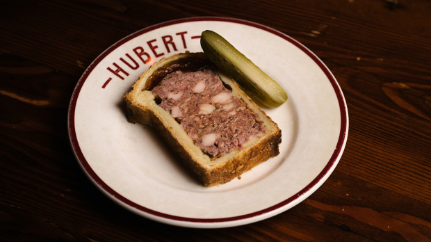 Restaurant Hubert pâté encroute, delivered by Providoor. For Terry Durack review, Good Food, Aug 31, 2021