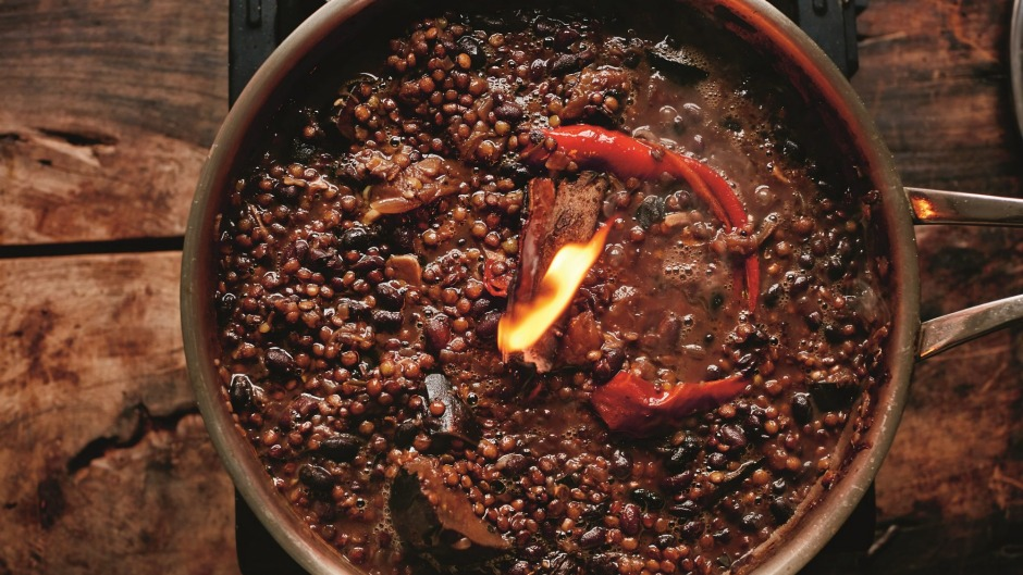 Made to share: Jamie Oliver's smoky eggplant daal.