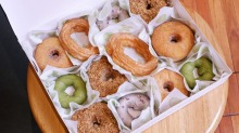 Mix and match: Cruller, cake, sugar-raised and filled doughnuts from Shortstop Coffee and Donuts.