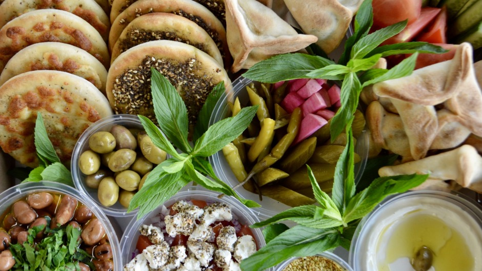 Straight-from-the-oven: Manoush breakfast box from Yum Yum Bakery, Guildford.