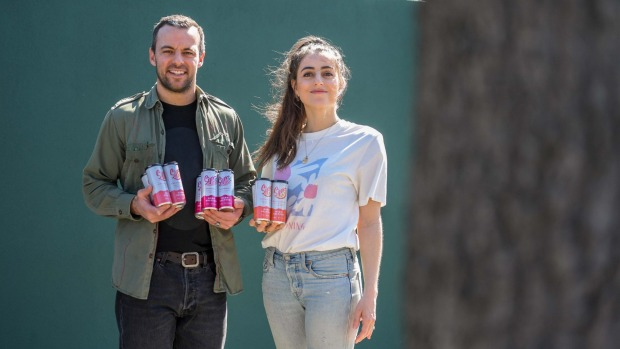 Husband and wife business partners James and Jacqui McKay, owners of Sips Hard Seltzer.