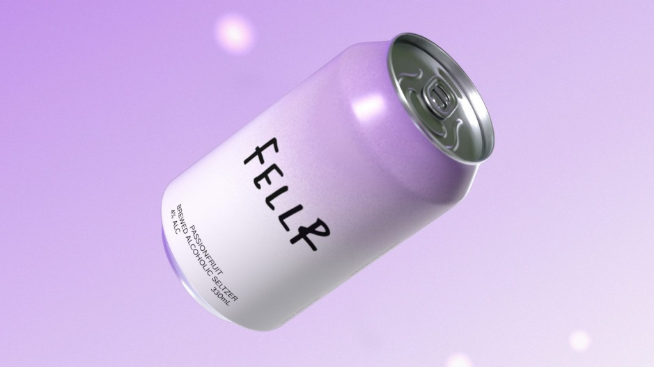 The new Passionfruit seltzer from Fellr, which retails for $23 a four-pack.
