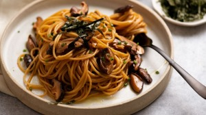 Pantry pasta with a Japanese twist.