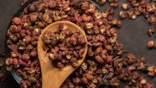 Sichuan peppercorns couple a complex lifted flavour with the ability to numb the mouth.