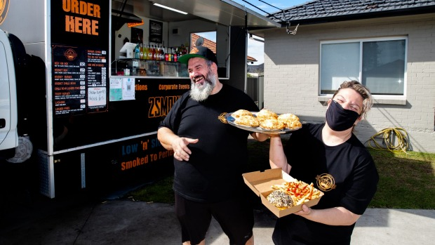 """""""Even Sonny Bill dropped by the other week."""" Sarah and Nawaf Refai serve wagyu brisket burgers and packs in Punchbowl"""