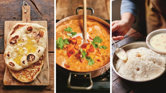 Fennel naan, fragrant pumpkin curry and fluffy coconut rice from Together by Jamie Oliver.