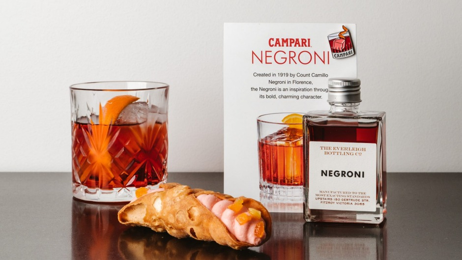 Eating boozy cannoli from Cannoleria is just one of the creative ways that Melbournians can celebrate Negroni Week.