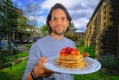 VicHealth CEO Dr Sandro Demaio with his #solidaritypancakes.