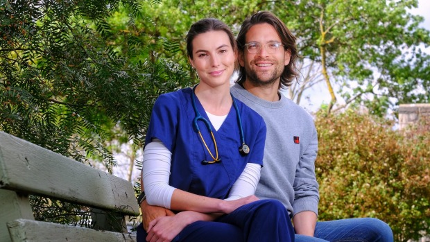 Dr Sandro Demaio and partner Dr Olivia Wells.