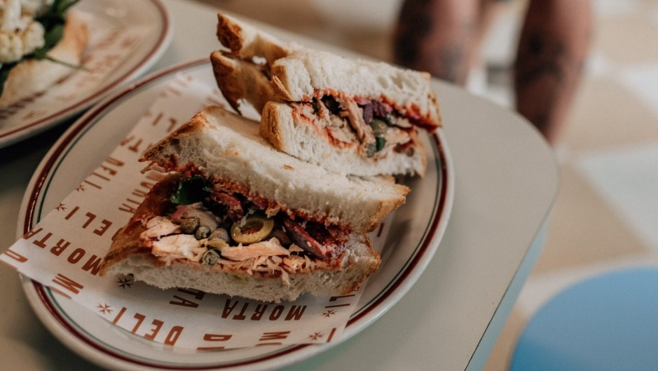 The Maltese hobz-biz-zejt is one of six sandwiches on the menu.