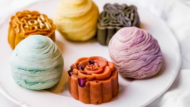 A selection of mooncakes from Melbourne bakery Raya.