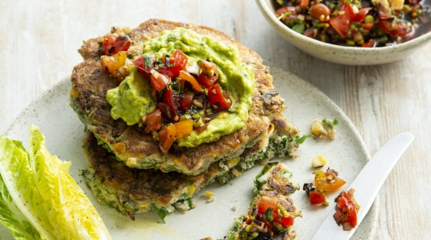 Great addition to your weekend brunch repertoire: Corn and kale fritters.